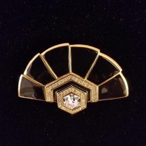 Black & Gold Brooch